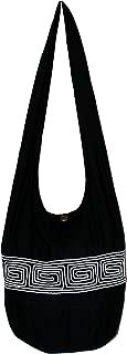 "Stripe Cotton Bohemian Shoulder Hippie Hobo Bag Large Light Weight 36"""