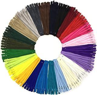 comprar comparacion Wartoon 120pcs 23cm / 9 pulgadas cremalleras de nylon multicolor de la bobina para coser y artes 24 colores