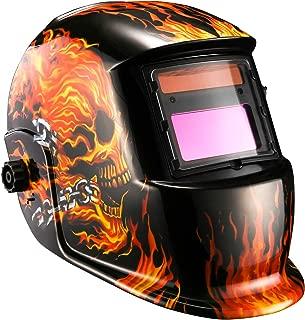 flaming skull helmet
