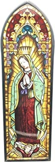 Frank Lloyd Wright Devotion Our Lady Of Guadalupe Virgin Mary Stained Glass Art Wall Decor or Flat Surface Display Spiritual Home Decorative Inspirational Gift