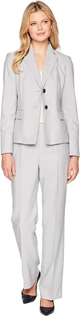 End On End Two-Button Notch Lapel Pants Suit