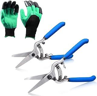SPEEDWOX Pruning Shears Gardening Hand Pruner Set Professional Gardening Scissors 8 and 6 Inches Handing Pruner Garden She...