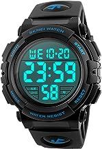 Men's Big Face Digital Sports Watch with Multifunction 50M Waterproof Alarm Stopwatch Calendar EL Backlight 12H/24H
