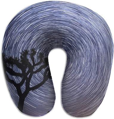KIENGG Vortex Beauty U Shaped Neck Pillow Case Memory Foam,Novelty Travel Rest Pillow Pain,Breathable Soft Comfortable Adjustable
