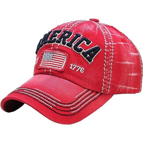f368869f3cb64 KBETHOS American Spirit Collection USA Distressed Vintage Baseball Cap Dad  Hat Adjustable Unconstructed