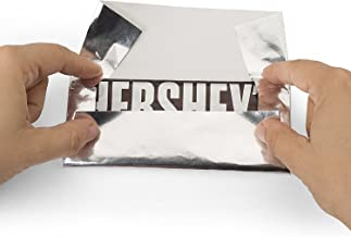 Hershey's Chocolate Bar Silver Foil Wrapper, 6