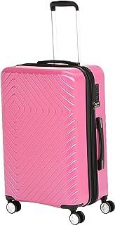 Amazonベーシック スーツケース キャリーケース 容量拡張機能 TSAロック内蔵 ハードシェル 伸縮ハンドル 幾何学柄