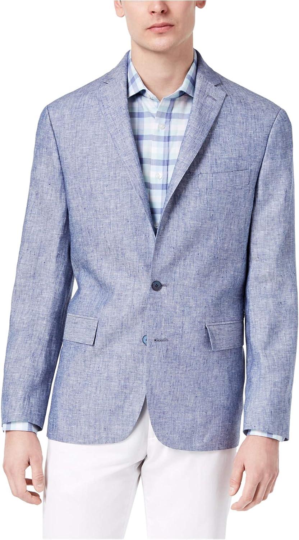Ryan Seacrest Mens Modern-Fit Sport Coat, Blue, 38 Long