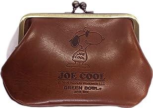 【日本製】SNOOPY スヌーピー Leather Coin Purse/レザー コインパース 財布 がま口