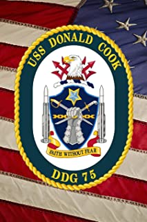 US Navy Destroyer USS Donald Cook (DDG 75) Crest Badge Journal: Take Notes, Write Down Memories in this 150 Page Lined Journal