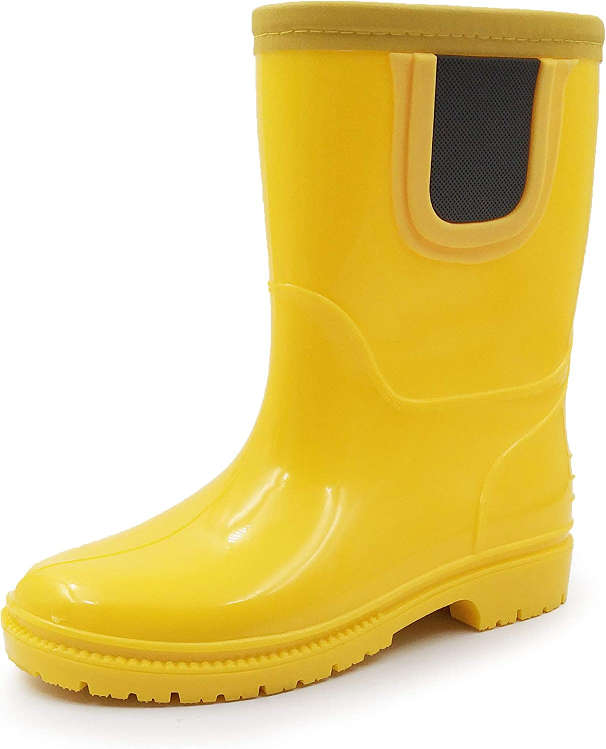 | Amoji Baby Kids Easy On Rain Shoes Boots for Toddler Little Kid | Rain Boots