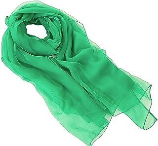 FIA Estola de bufanda de mujer - Verde - 180 x 70 cm - Bufanda en diferentes colores - un accesorio ideal para cualquier atuendo!