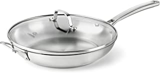 Calphalon Classic Stainless Steel Cookware, Fry Pan, 12-inch with Lid