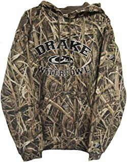 4d553dd89f0ec Drake Waterfowl Embroidered Hoodie Collegiate Style Mossy Oak Blades Camo  Draw String Hoodie Ribbed Cuffs
