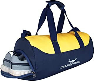 Urban Tribe Bolt Gym Bag Unisex Polyester with Quick Access Pocket Shoe Compartment Shaker Pocket (28 Litres,Navy Blue) + ...