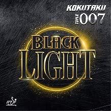 Kokutaku 007 TULPE Black Light Table Tennis Rubber, Black, 2.1 mm for DEF/All- Style