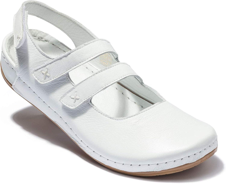 CLINIC DRESS Clog für Damen Leder Weiß Weiß