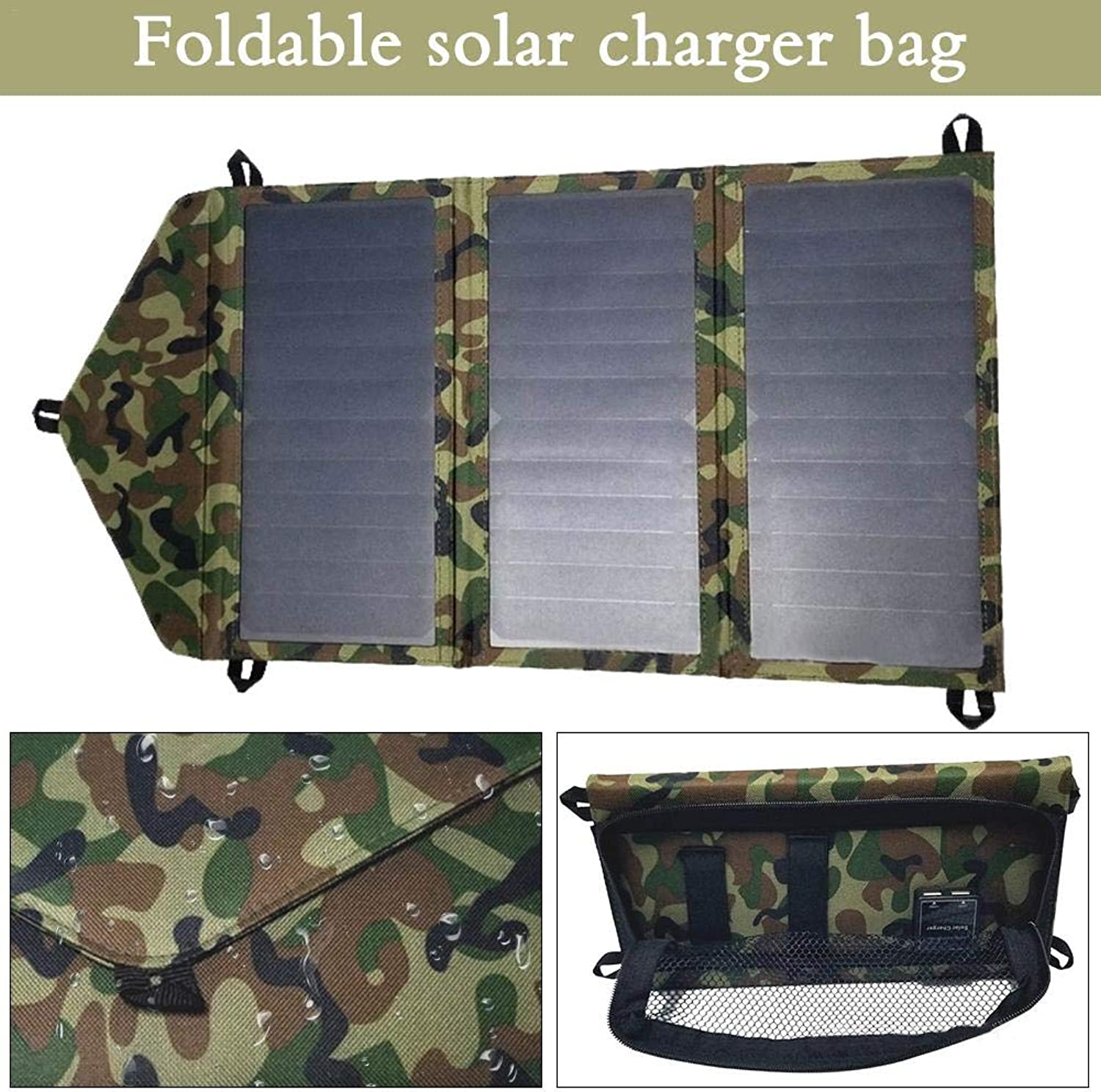 Singa-Z Solar Bag Mobile Phone Charging Board Solar Bag Outdoor Foldable Mutiple Function Solar Bag for Travel Outdoor Hiking