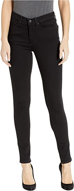 High-Rise Skinny Jeans in Black