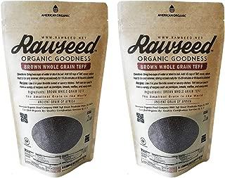 Rawseed Organic Brown Whole Grain African Teff 2 Lbs 2 Pack Gluten Free