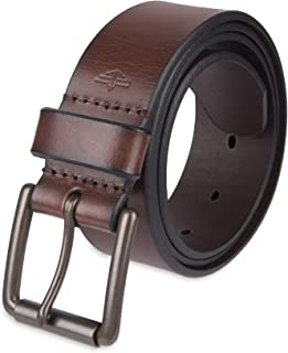 Men's Casual Leather Belt - 100% Soft Top Grain Genuine Leather Strap with Classic Prong Buckle