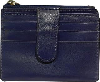 Laveri Genuine Leather Credit Card Holder Wallet Unisex Bill and Card Holder - Leather, Blue