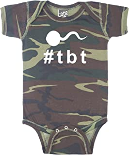 Decal Serpent Throwback Thursday Hashtag Sperm #TBT Funny Baby Boy Bodysuit Infant