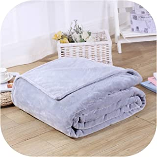 Novtop Official Store Solid Color Flannel Coral Fleece Blanket Super Soft Plaid Coverlet Sofa Cover Winter Warm Sheets Easy Wash Blankets,LT Grey,50X70CM(20X28Inches)