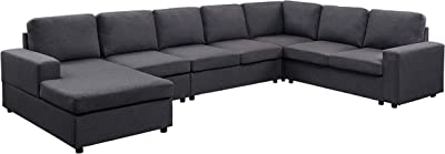 Amazon Com Lilola Home Tifton Modular Sectional Sofa With Reversible Chaise Furniture Decor