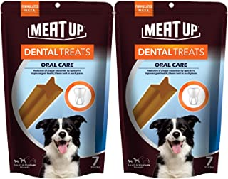 Meat Up Dental Treats, Oral Care Dog Treats- 7 Sticks, 165g (Buy 1 Get 1 Free)