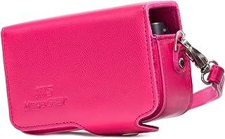MegaGear Canon PowerShot SX740 HS, SX730 HS Leder Kameratasche mit Trageriemen   Rosa