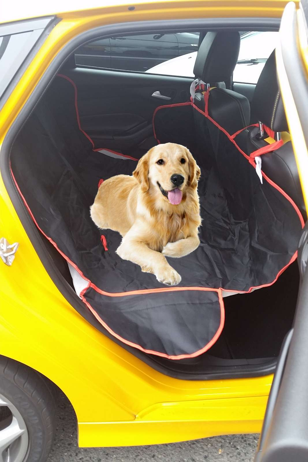 Black Rear Seat Cover Dog Pet Boot Hammock For Nissan X-Trail Qashqai All Years