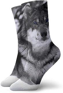 OUYouDeFangA, OUYouDeFangA Wild Snow Wolf Blue Eye - Calcetines Cortos de algodón para Yoga, Senderismo, Ciclismo, Correr, fútbol, Deportes