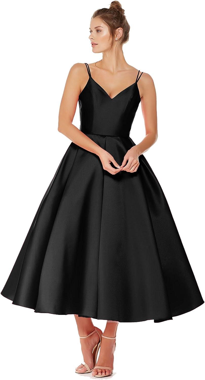 Beauty Bridal Junior's V Neck Homecoming Dress Satin Prom Dresses TeaLength 2019 J92
