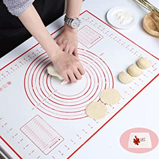 Nifogo Tapis de Cuisson Patisserie en Silicone Anti-adhésif Réutilisable avec Mesure Convient Pourles Fondant Pâte Gâteaux...