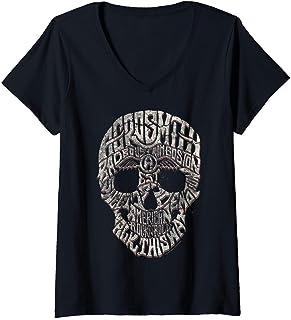 Femme Aerosmith - Forever T-Shirt avec Col en V