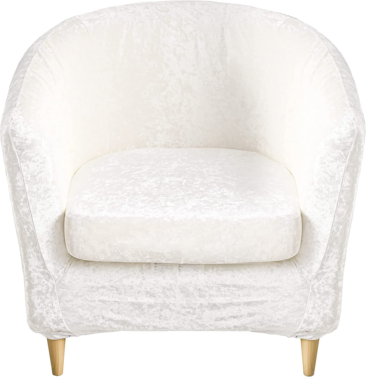 2 Piece Tub Chair Large special price Covers Velvet Stretch Slipc Crushed Club Max 67% OFF
