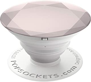 PopSockets: Collapsible Grip & Stand for Phones and Tablets - Metallic Diamond Rose Gold