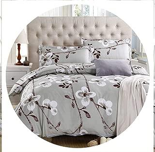 retro store 100% Cotton Home Textile,Reactive Print 4Pcs Bedding Sets Luxury Duvet Cover Bed Sheet Pillowcase,King/Queen/Full Size, Bed Linen,Black,Queen