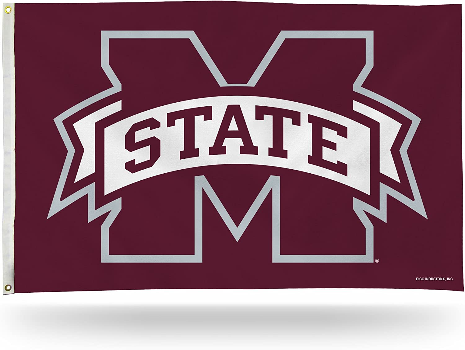 NCAA Mississippi State Bulldogs 3-Foot by 5-Foot Single Sided Banner Flag with Grommets