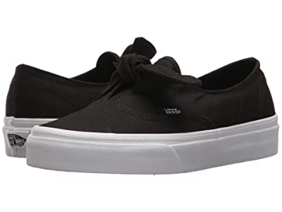 Vans Authentic Knotted ((Canvas) Black/True White) Skate Shoes