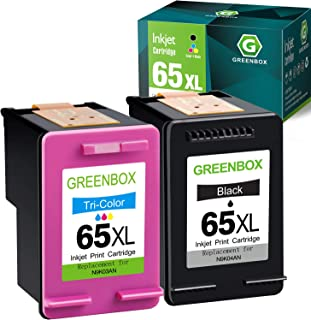 $40 » GREENBOX Remanufactured Ink Cartridge Replacement for HP 65XL 65 XL for Envy 5055 5052 5058 DeskJet 3755 3752 2652 2655 26...