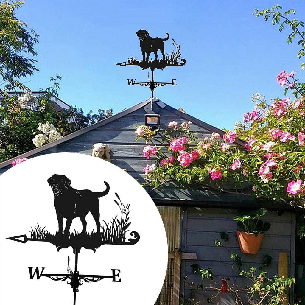 Easy Use Roof Decoration Farmhouse Weather Vane Roof Mount Wind Direction Indicator Kit Outdoor Metal Bracket Weather Vane for Cupolas Garden Yard Helicopter