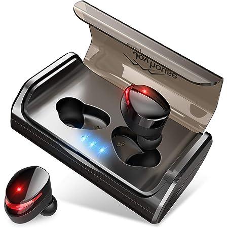 【最先端Bluetooth5.0+EDRが搭載】Bluetooth イヤホン IPX7完全防水 95時間連続駆動 Hi-Fi高音質 3Dステレオサウンド CVC8.0ノイズキャンセリング&AAC8.0対応 自動ペアリング マイク付き 完全ワイヤレス イヤホン 両耳 左右分離型 タッチ式 マイク内蔵 ブルートゥース イヤホン 日本語音声提示 技適認証済