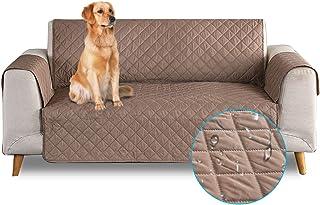 comprar comparacion PETCUTE Funda de sofá 2 plazas Cubre Sofas Impermeable Protector de sofá Antideslizante Acolchado Sofas Fundas para Perros...
