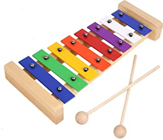 MVPower Xylophone for Kids, Glockenspiel with Best Educational Development Musical Kid Toy as Birthday/Holiday Gift for Childs Perfectly Tuned Instrument Gift for Toddlers, Musical Cards