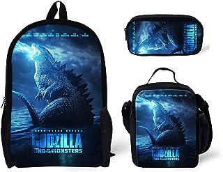 God-Zilla Kids Backpack -Monster Book Bag Rucksack -Lightweight School Bags for Student Men Women (Set 2)