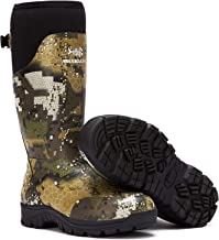 """Bassdash Explorer Desolve Veil Camo Men's Waterproof Hunting Boots 16"""" Rubber Boots with 5mm Neoprene Lining Insulated 400..."""