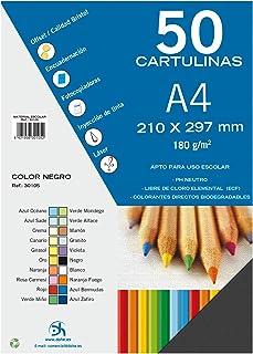 comprar comparacion Dohe 30105 - Pack de 50 cartulinas, A4, color negro