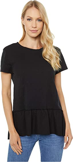 Scout Tee with Ruffle Cotton Hem